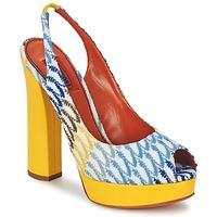 kengät Naiset Sandaalit ja avokkaat Missoni XM005 Yellow / Blue