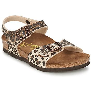 kengät Tytöt Sandaalit ja avokkaat Birkenstock RIO Leopardi / Brown