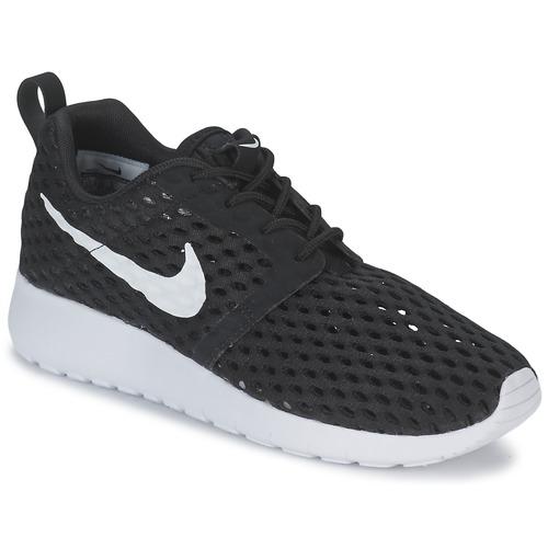 kengät Pojat Matalavartiset tennarit Nike ROSHE ONE FLIGHT WEIGHT BREATHE JUNIOR Black