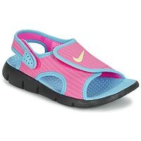 kengät Tytöt Sandaalit ja avokkaat Nike SUNRAY ADJUST 4 Pink / Blue
