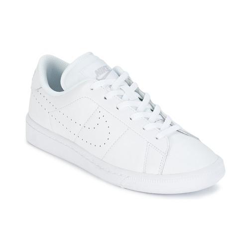 kengät Lapset Matalavartiset tennarit Nike TENNIS CLASSIC PREMIUM JUNIOR White