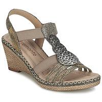 kengät Naiset Sandaalit ja avokkaat Remonte Dorndorf TINACE Gold / Argenté