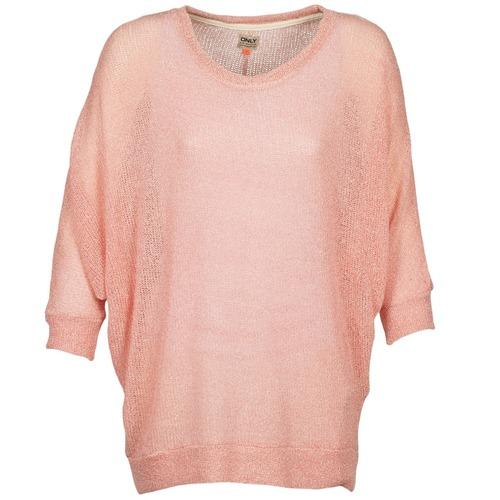 vaatteet Naiset Neulepusero Only GRISA Vaaleanpunainen