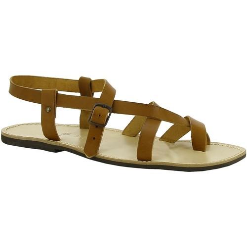 kengät Naiset Sandaalit ja avokkaat Gianluca - L'artigiano Del Cuoio 530 U CUOIO LGT-GOMMA Cuoio