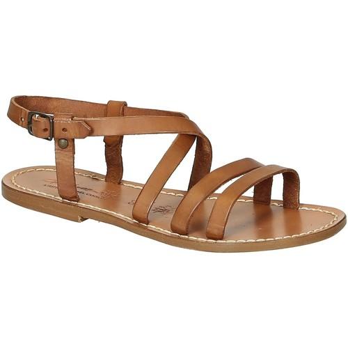 kengät Naiset Sandaalit ja avokkaat Gianluca - L'artigiano Del Cuoio 531 D CUOIO CUOIO Cuoio