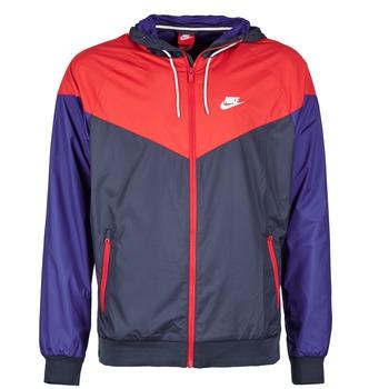 vaatteet Miehet Tuulitakit Nike WINDRUNNER Laivastonsininen / Red / Blue