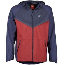 vaatteet Miehet Tuulitakit Nike TECH WINDRUNNER Red / Laivastonsininen / Grey