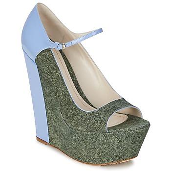 kengät Naiset Korkokengät John Galliano S54261 Blue / Green