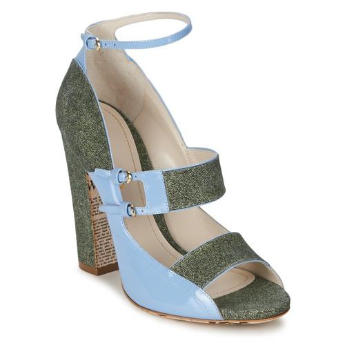 kengät Naiset Sandaalit ja avokkaat John Galliano A54250 Blue / Green