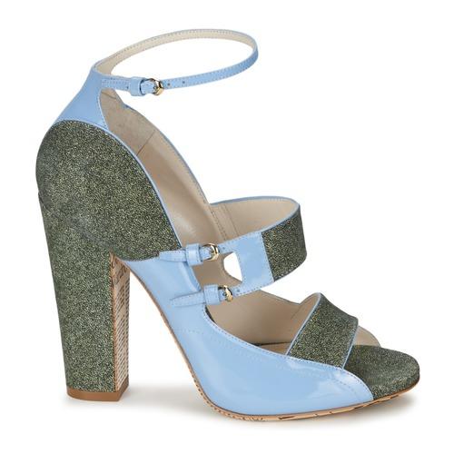 John Galliano A54250 Blue / Green - Ilmainen Toimitus- Kengät Sandaalit Naiset 499