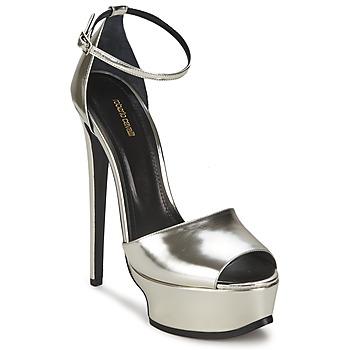 kengät Naiset Sandaalit ja avokkaat Roberto Cavalli XPS260-PZ048 Grey / Argenté