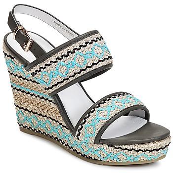kengät Naiset Sandaalit ja avokkaat Café Noir JABALA Carbone / Turkoosi