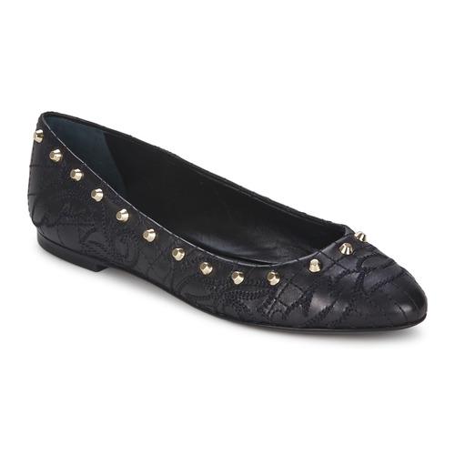 kengät Naiset Balleriinat Versace DSL787C Black / Kulta