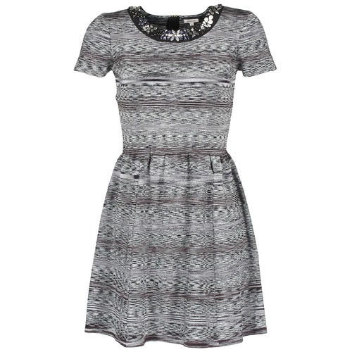 vaatteet Naiset Lyhyt mekko Manoush BIJOU ROBE Black / Grey