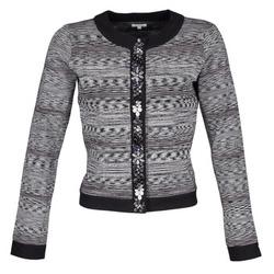 vaatteet Naiset Takit / Bleiserit Manoush BIJOU VESTE Black / Grey