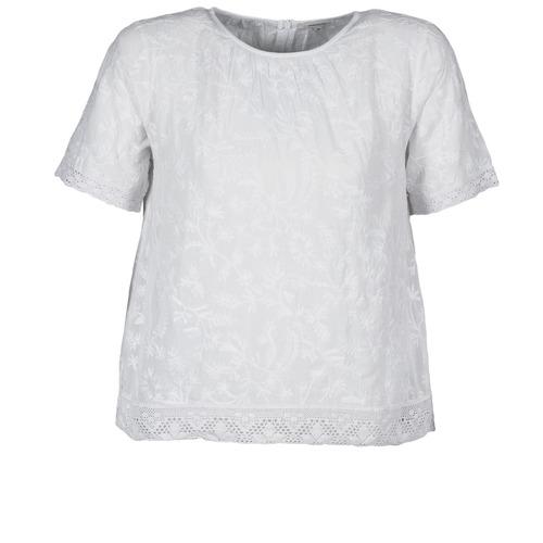 vaatteet Naiset Lyhythihainen t-paita Manoush COTONNADE SMOCKEE White