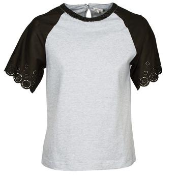 vaatteet Naiset Lyhythihainen t-paita Manoush FANCY Grey / Black