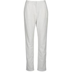 vaatteet Naiset 5-taskuiset housut Manoush FLOWER BADGE White