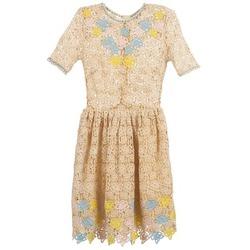 vaatteet Naiset Lyhyt mekko Manoush ROSES Ecru