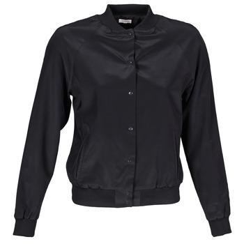 vaatteet Naiset Pusakka Manoush TEDDY FLEUR SIATIQUE Black