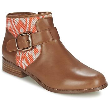 kengät Naiset Bootsit Mellow Yellow VABEL Ruskea / Oranssi