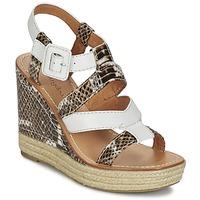 kengät Naiset Sandaalit ja avokkaat Mellow Yellow VANAIS White / Brown