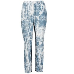vaatteet Naiset Väljät housut / Haaremihousut Vila GRUNGE ME Blue / White