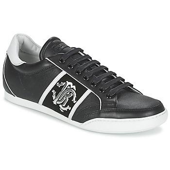 kengät Miehet Matalavartiset tennarit Roberto Cavalli 7779 Black