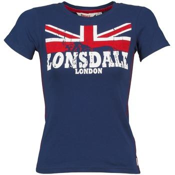 vaatteet Naiset Lyhythihainen t-paita Lonsdale ERYKAH Blue