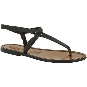 kengät Naiset Sandaalit ja avokkaat Gianluca - L'artigiano Del Cuoio 592 D MORO CUOIO Testa di Moro