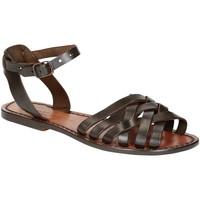 kengät Naiset Sandaalit ja avokkaat Gianluca - L'artigiano Del Cuoio 595 D MORO CUOIO Testa di Moro