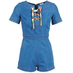 vaatteet Naiset Jumpsuits / Haalarit Manoush LACET Blue / Farkku