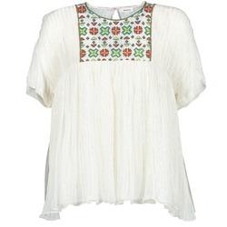 vaatteet Naiset Topit / Puserot Manoush POINT DE CROIX Ecru