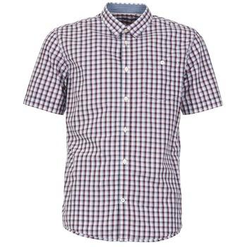 vaatteet Miehet Lyhythihainen paitapusero Tom Tailor CATHARINI White / Red / Black