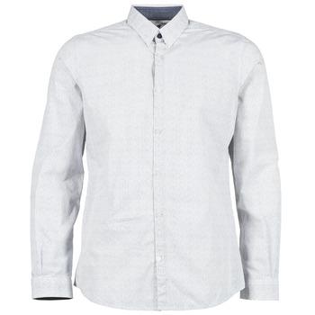 vaatteet Miehet Pitkähihainen paitapusero Tom Tailor MARCHALO White / Laivastonsininen