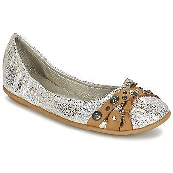 kengät Naiset Balleriinat Regard SOLI Argenté / BEIGE