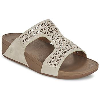 kengät Naiset Sandaalit FitFlop CARMEL SLIDE Beige