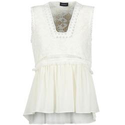 vaatteet Naiset Hihattomat paidat / Hihattomat t-paidat Kookaï VACHOVA White