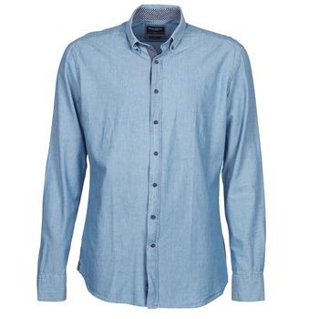 vaatteet Miehet Pitkähihainen paitapusero Hackett RILEY Blue