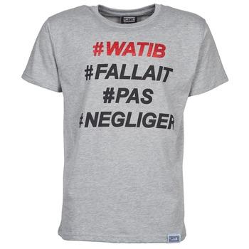 vaatteet Miehet Lyhythihainen t-paita Wati B NEGLIGER Harmaa