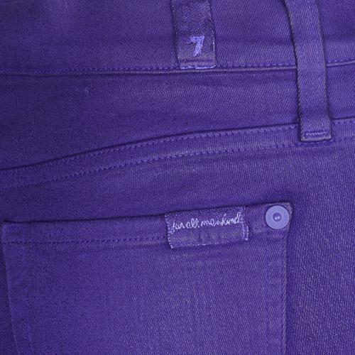 7 For All Mankind The Skinny Vine Leaf Blue - Ilmainen Toimitus- Vaatteet Slim-farkut Naiset 169