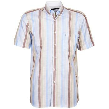 vaatteet Miehet Lyhythihainen paitapusero Pierre Cardin 539936240-130 Blue / Beige / Brown