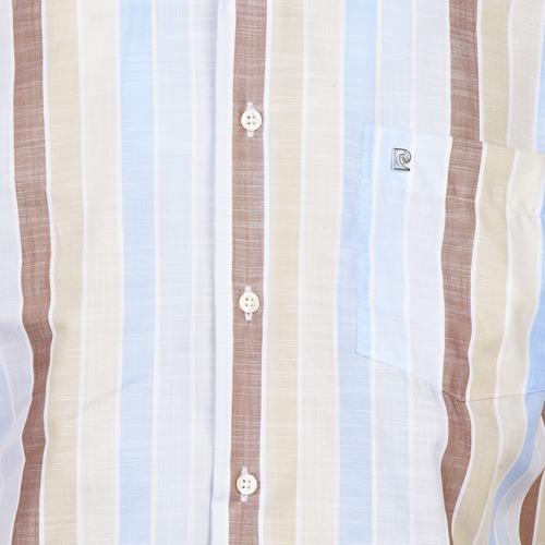 Pierre Cardin 539936240-130 Blue / Beige Brown - Ilmainen Toimitus- Vaatteet Lyhythihainen Paitapusero Miehet 58