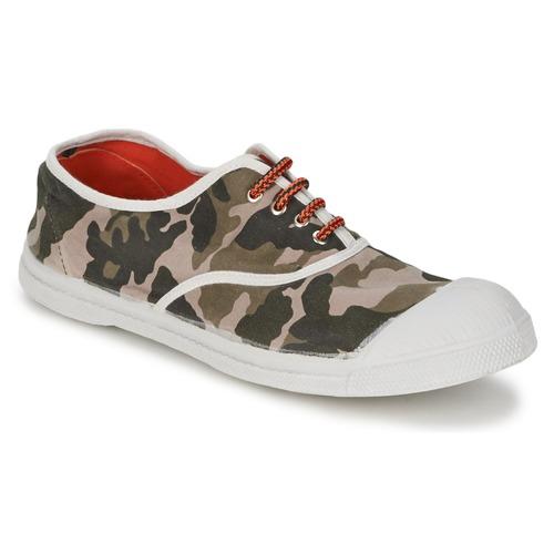 kengät Naiset Matalavartiset tennarit Bensimon TENNIS CAMOFLUO Camouflage