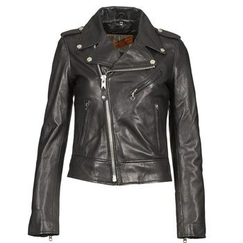 vaatteet Naiset Nahkatakit / Tekonahkatakit Schott SIMOUDE Black
