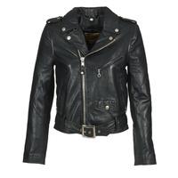 vaatteet Naiset Nahkatakit / Tekonahkatakit Schott GUELINE Black
