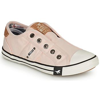 kengät Tytöt Matalavartiset tennarit Mustang SHAYAN Vaaleanpunainen