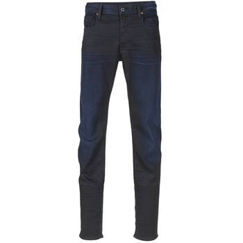 vaatteet Miehet Slim-farkut G-Star Raw 3301 SLIM Pimeä / Super / Musta paljetti / Denim