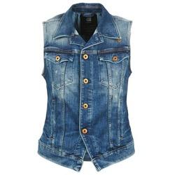 vaatteet Naiset Farkkutakki G-Star Raw 3302 JKT S/LESS WMN Blue / CLAIR