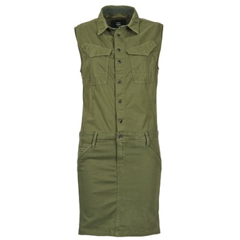 vaatteet Naiset Lyhyt mekko G-Star Raw ROVIC SLIM DRESS WMN S/LESS Kaki
